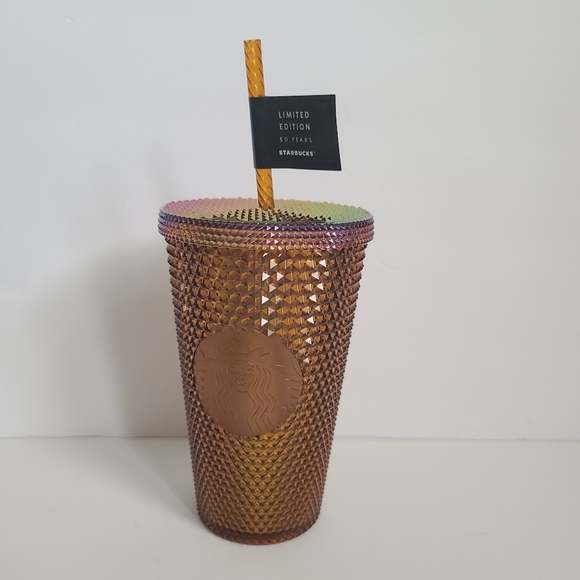 Starbucks grande honeycomb gold studded 16oz
